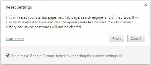 chrome_cleanup_tool redirect virus