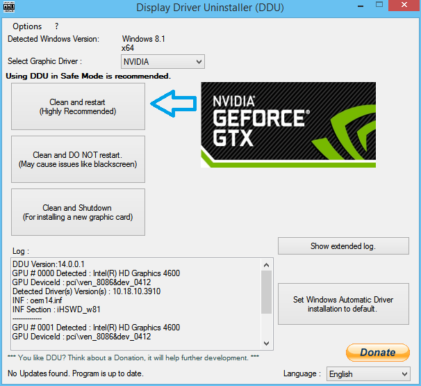 Fix NVIDIA graphics driver not compatible with Windows 10 - Error Fixer