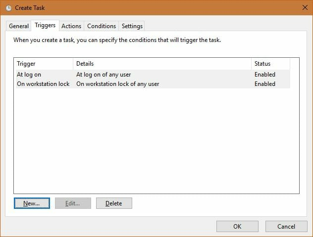 task scheduler triggers