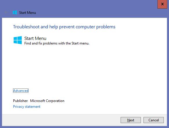 start-menu-troubleshooter-windows-10